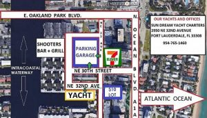 Caprice Yacht Fort Lauderdale Parking Map