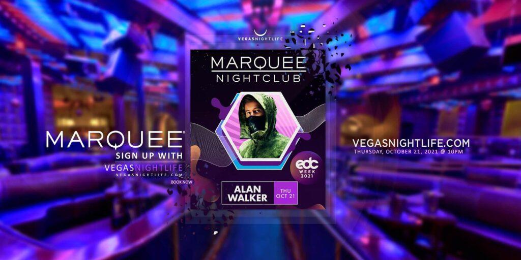 EDC Week with Alan Walker at Marquee Nightclub