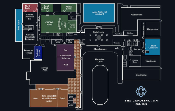 Carolina Inn Chapel Hill Hotel Map