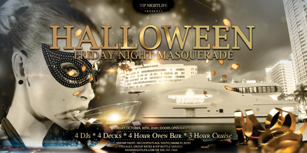 Miami Halloween Friday Night Masquerade Party Cruise