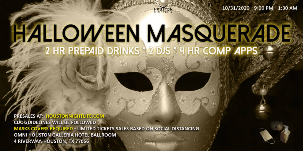 Haunted Omni Houston Hotel - Exclusive Halloween Masquerade Costume Ball