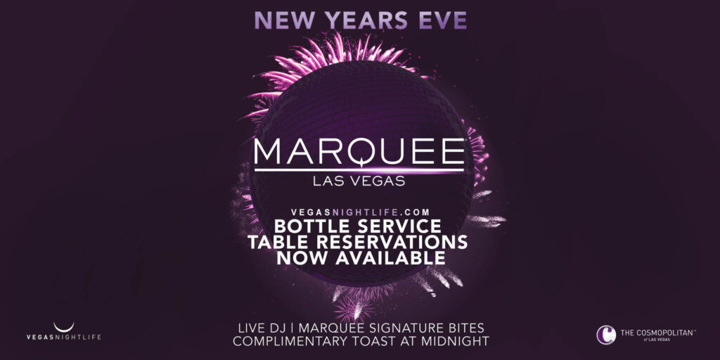 Marquee Vegas NYE 2021 New Year's Eve Party