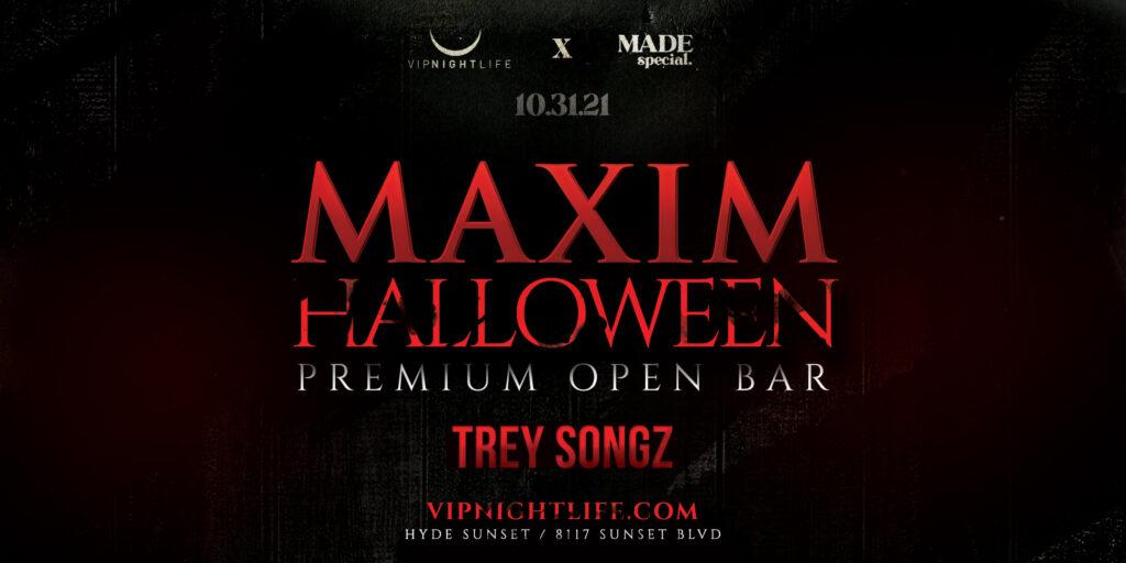 Maxim Halloween Party with Trey Songz | Los Angeles