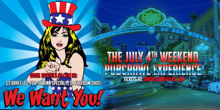 San Diego July 4th Weekend Pub Crawl