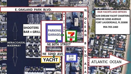 Speakeasy Fort Lauderdale Caprice Yacht Parking Map