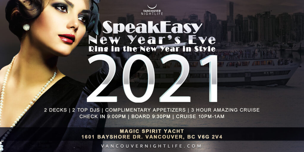Vancouver New Year's Eve Speakeasy Cruise 2021