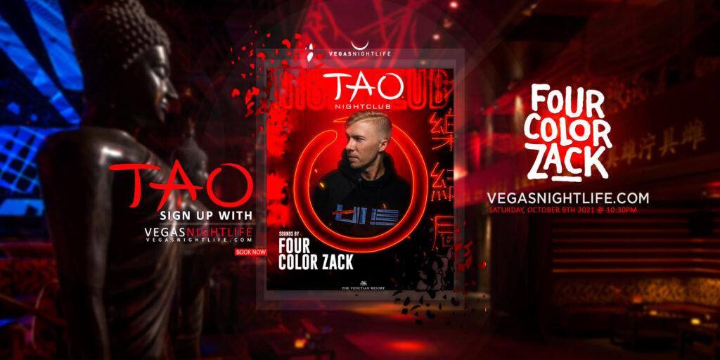 TAO Nightclub Vegas with Four Color Zack