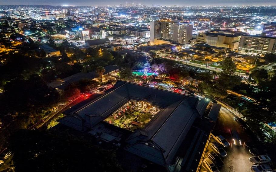 Yamashiro Hollywood Aerial View